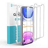 Syncwire [3 Piezas] Protector Pantalla Compatible con iPhone 11 / XR, Cristal Templado para iPhone 11 / XR, Soporta 3D Touch, Dureza 9H, 6X más Fuerte, Marco para la Instalación, Sin Burbujas