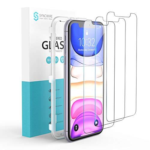 Syncwire [3 Piezas] Protector Pantalla Compatible con iPhone 11 / XR, Cristal...