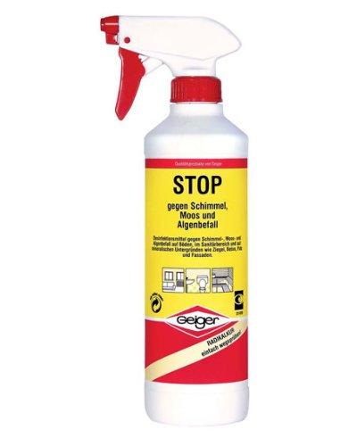 Stop gegen Schimmel moos und Algen 500 ml Grundpreis: 1 Liter/19.90 Euro