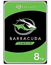"""Seagate BarraCuda, 8TB, Disco duro interno, HDD, 3,5"""" SATA 6 Gb/s, 5400 r.p.m., caché de 256 MB para ordenador de sobremesa y PC, Paquete Abre-fácil (ST8000DMZ04)"""