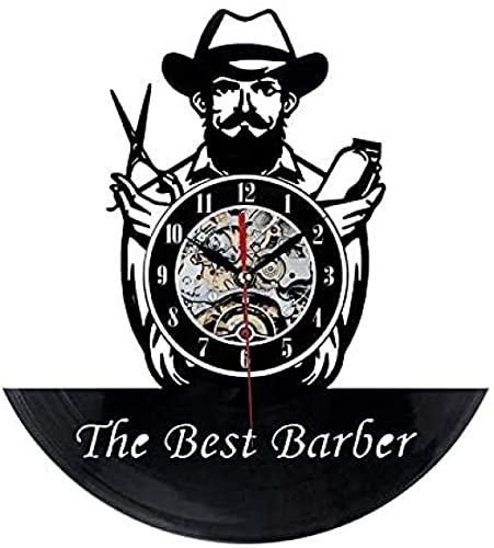 zgfeng Los Mejores peluqueros registran Relojes de Pared de Vinilo en Las Paredes del Aula Relojes de Pared de Vinilo decoración del hogar Relojes de Pared-Sin LED