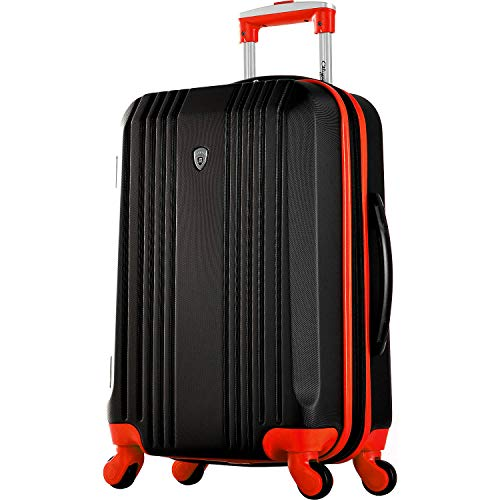 Olympia Apache Ii 21' Carry-on Spinner, Black/Red