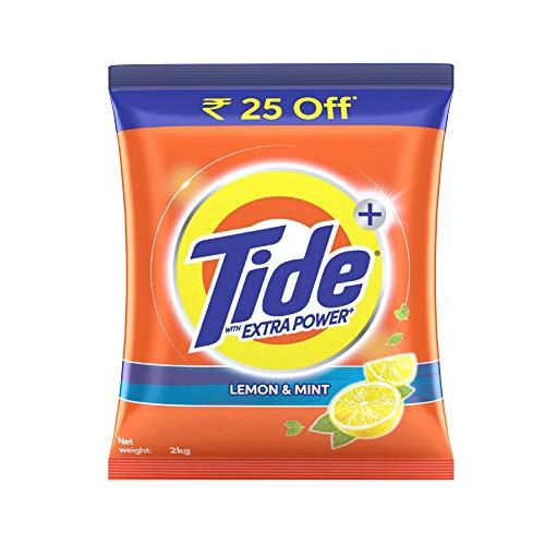 Tide Plus Extra Power Detergent Washing Powder - 2 kg (Lemon and...