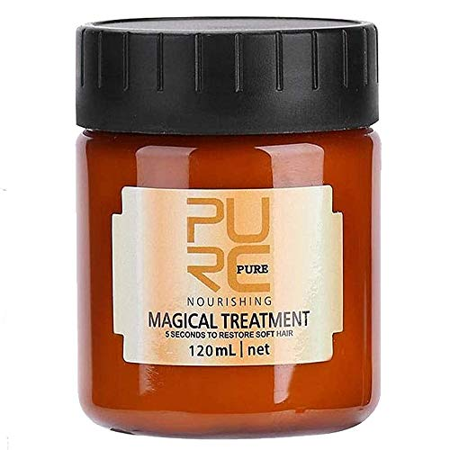 PURC Magical Hair Mask,Advanced Molecular Hair Roots Treatment Professtional Hair Conditioner,hair mask for damaged hair,Deep Conditioner Suitable for Dry & Damaged Hair-120ML