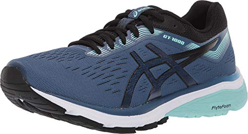 ASICS Women's GT-1000 7 Running Shoes, 8M, Grand Shark/Black