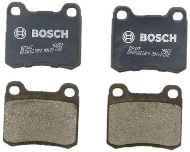 Bosch BP335 QuietCast Premium Semi-Metallic Disc Brake Pad Set For Select Mercedes-Benz 190D, 190E, 260E, 300CE, 300D, 300E, C220, C280, E300; Rear