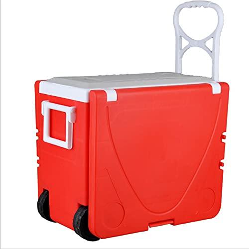 YAHAO Bärbart campingbord, multifunktionellt och bekvämt utomhus camping fällbord och stolar rött kylskåp bilfrys med pall strand grill camping