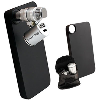 iPhone 4/4S Case w/LED Pocket Microscope 60x