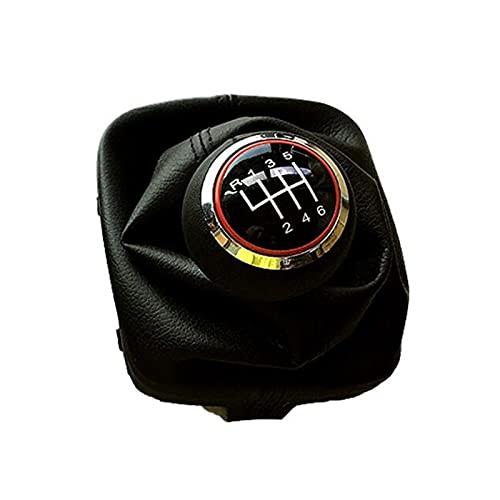 XINXIN LakerBig 5 Engranaje 6 velocidades Manual MT MQ MT CAMPE DE Cambio DE ENGRANSAMIENTO con PIERNO DE Cuero Tapas Rojas Ajuste para Audi A3 S3 8P S-Line Sportback Sportback Car Styling