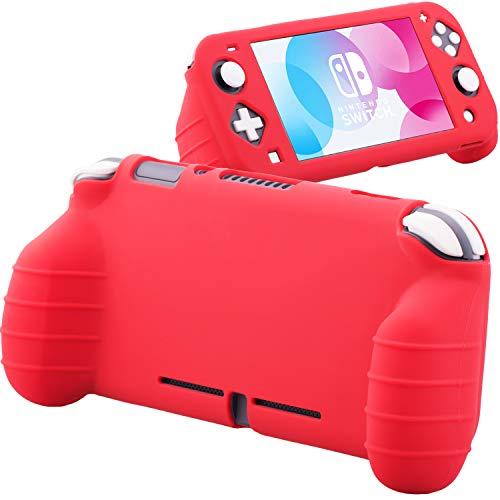 YoRHa Handle Grip Soft Silikon Kautschuk Schutzhülle Skin Cover Hülle Griff(Rot) x 1 für Nintendo Switch Lite [9.2019 Slim Modell]