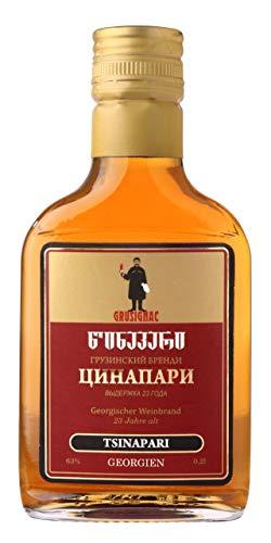 Georgischer Weinbrand TSINAPARI, 63%, 23 Jahre Alt, 0,2Liter, aus autochthone georgische Rebsorte...