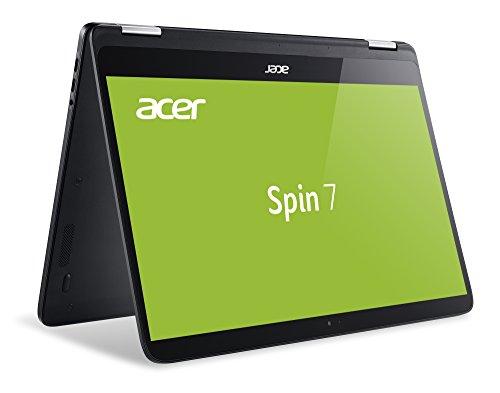 Acer Spin 7 SP714-51-M6LT 35,6 cm (14 Zoll Full HD IPS Multi-Touch) Convertible Laptop (Intel Core i7-7Y75, 8GB RAM, 256GB SSD, Intel HD, Win 10) schwarz