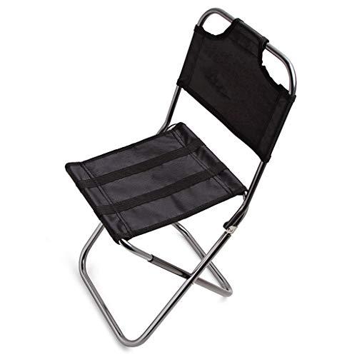 Camp Chaise Pliante Cadre en Acier Maille Porte-Tasse Poids Léger Portable Stable pour Camping Pique-Nique en Plein Air (Color : Black)