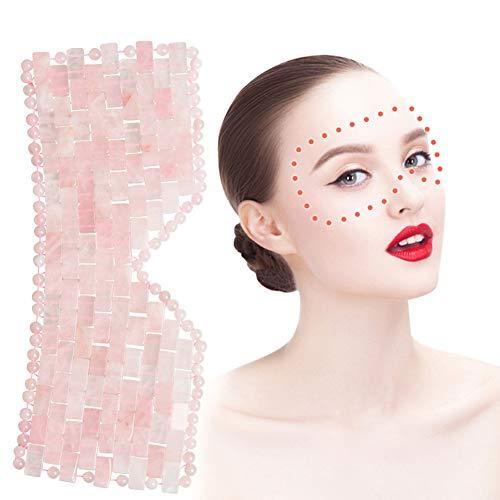 Jade Schlafmaske & Blindfold, Natürliche Rose Quartz Crystal Eye Mask, Anti-Aging Heiß Oder Kalt Therapie Augenmaske Beauty Hautpflege-Massage-Werkzeug