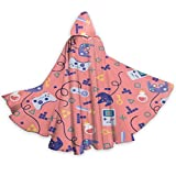 NR Motif Jeu vidéo Halloween Cape Fancy Cape à Capuche avec cordelette Adulte Cool Sorcière Robe Extra Long Party Cap