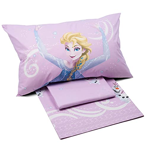 Caleffi Frozen star Completo Lenzuola, Cotone , Unica, Singolo, 73316 , Disney