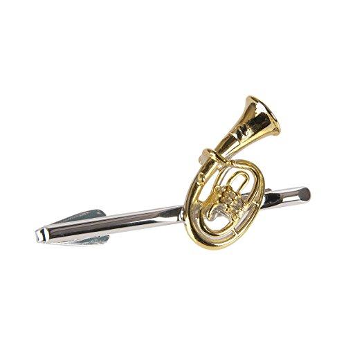 Unbekannt Krawattenhalter Tenorhorn (groß) - Schönes Geschenk für Musiker mit Geschenkverpackung