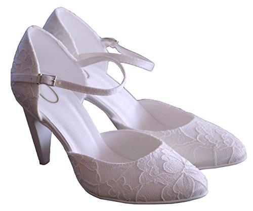 YES - zapatos de novia Mujer , color Blanco, talla 38
