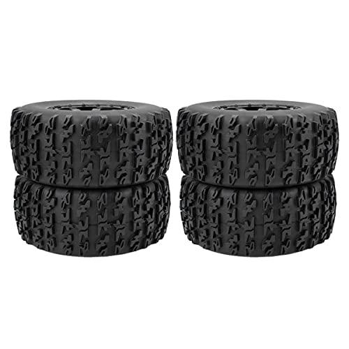 Rueda RC duradera 1:10 Neumáticos de camión de recorrido corto 12 mm Buje hexagonal para Traxxas Slash HPI VKAR Redcat HSP (10042)