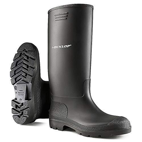 Wellington Boots Para hombre auténtico impermeable Dunlop jardín trabajo ocio, color Negro,...