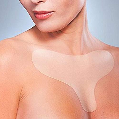 Silikon Anti-Falten Brustpolster Lieben Sie Herzförmige Brustpolster Zur Eliminierung Und Vorbeugung Von Brustfalten Straffen Anti-Aging Brustaufkleber (A)