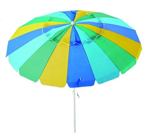 Outdoor Living New Deluxe 8' Beach Umbrella Windproof & Portable Sun Shade Umbrella with UV Coating