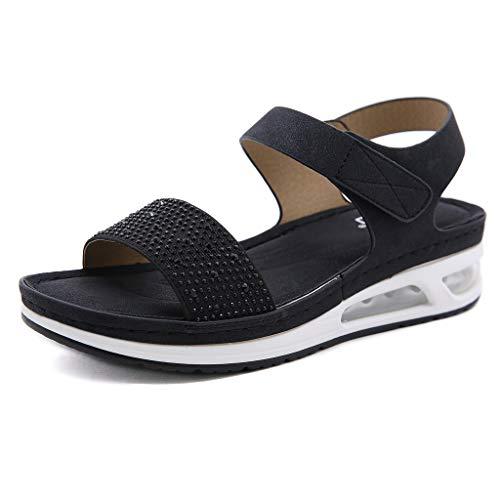 Sandalias Mujer Verano Flat Ajustable Deportivas Sandalias Playa Antideslizante Casual Caminar Zapatos Tobillo Correa Slingback