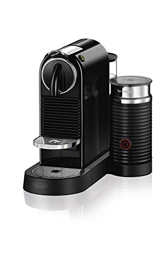 Nespresso CitiZ Original Espresso Machine with Aeroccino Milk Frother Bundle by De'Longhi, Black