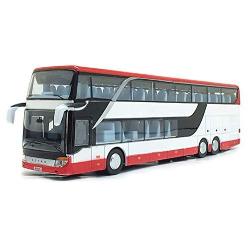 Majome 1:32 de Aleación Doble Bus Bus de Capa Doble Modelo Vista Nocturna Linda Muere Juguete...