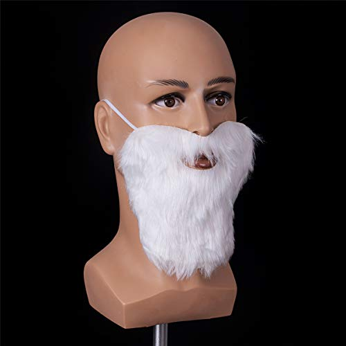 Funny Costume Party Male Man Christmas & Halloween Beard Facial Hair Disguise Game White Mustache Top Quality