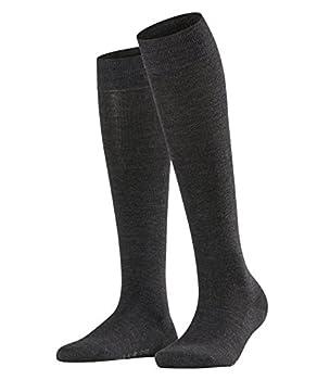 FALKE Womens Sensitive Berlin Knee-High Socks Merino Wool Cotton Grey  Anthracite Melange 3089  US 8-10.5  EU 39-42 Ι UK 5.5-8  1 Pair