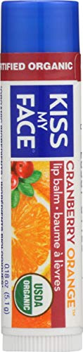 Kiss My Face Organic Lip Balm, Cranberry Orange, 0.15 Ounce