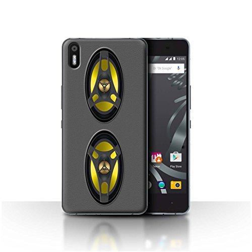 Custodia/Cover/Caso/Cassa Rigide/Prottetiva STUFF4 stampata con il disegno Progettazione dei diffusori per BQ Aquaris X5 - Car stereo