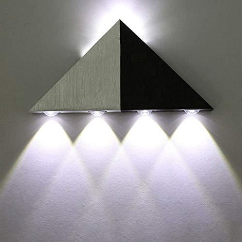 Driehoekige lamp Corridoio aluminium Corridoio ladder 5W decoratieve verlichting voor badkamer woonkamer (warmwit)