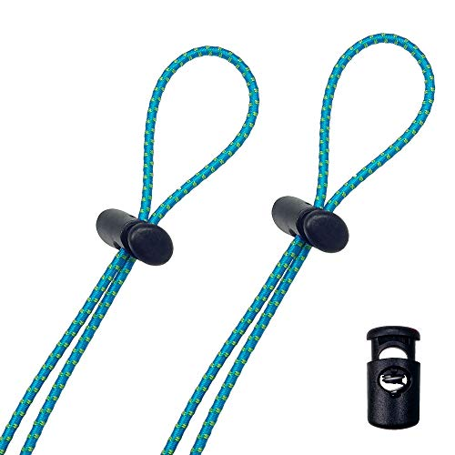 Flow Bungee Goggle Strap Kit (2-Pack) - Universal Adjustable Replacement Straps for Swim Goggles (Blue)
