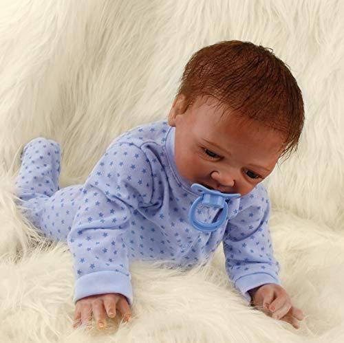 Realista Muñecas Bebé Reborn Niño Recién Nacido Silicona Suave de Vinilo Bebé Reborn Niña Hecha a Mano Regalo de Cumpleaños Para Niños 20 Pulgadas 50 cm