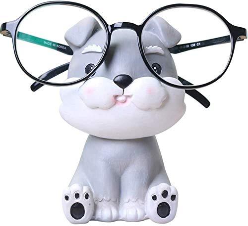 QWEWQE - Porta occhiali a forma di animale in poliresina, a forma di cucciolo di cane, simpatico supporto per occhiali da sole, per casa, ufficio, scrivania
