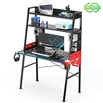 EUREKA ERGONOMIC Gaming Computer Desk 43 inch Home Office Desks PC Tables with RGB LED Lights, Storage Capacity Colonel Series MGD-02 from EUREKA ERGONOMIC
