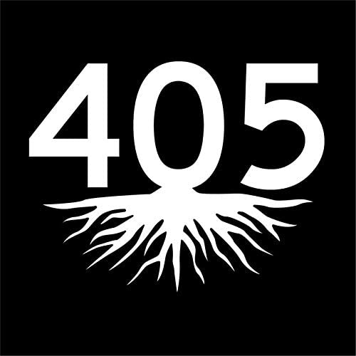 JMM Industries 405 Roots Oklahoma Area Code OK Vinyl Decal Sticker White CarWindow Bumper 2 product image