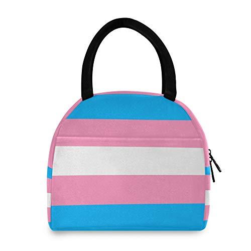 WYZQ Bolsa de Almuerzo con símbolo transgénero Movimiento LGBT Mujer Hombre Fiambrera para Picnic Escolar Trabajo de Viaje para Almacenamiento de Alimentos para Adolescentes
