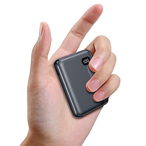 AINOPE Power Bank, eines der kleinsten tragbaren 10000mAh 3A PD QC 3.0 Ladegeräte, 18W Telefonakku mit DREI Ausgängen, [LED-Anzeige] kompatibles iPhone, iPad, Samsung Galaxy usw.
