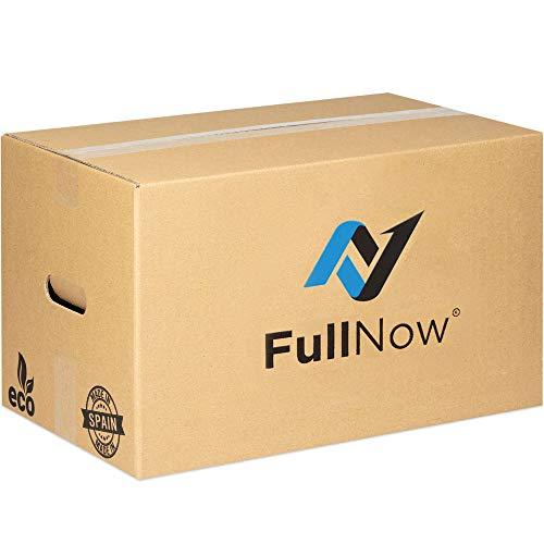FULLNOW Pack 10 Cajas Cartón Grandes con Asas para Mudanza y Almacenaje Ultraresistentes, 500x300x300mm, Fabricadas en España, Canal Doble 5mm