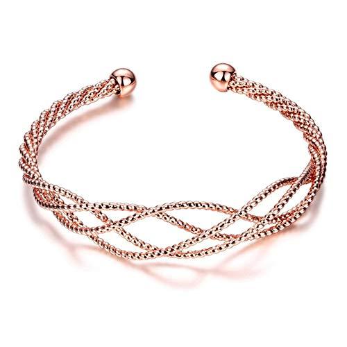 Melody - Pulsera de malla para mujer, diseño de nudo, abierta, para amor, aniversario, día de San Valentín, día de la mujer