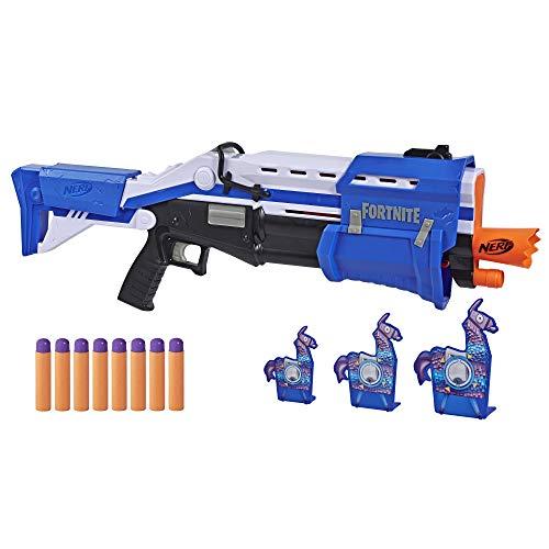 Nerf TS-R Blaster und Llama Ziele – Pump-Action Blaster, 3 Llama Ziele und 8 Nerf Mega Darts – Für Kinder, Jugendliche und Erwachsene