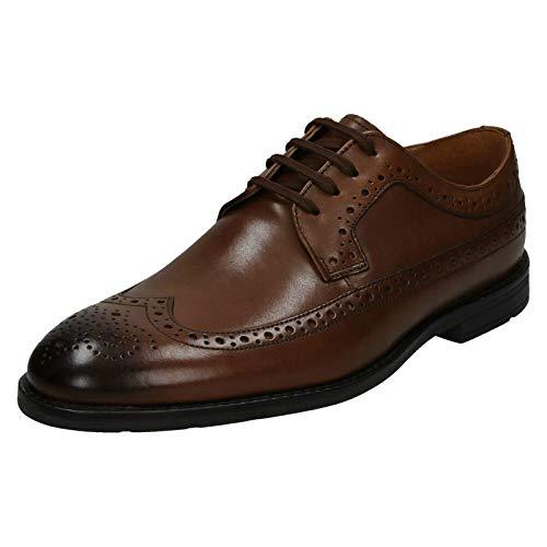 Clarks Ronnie Limit, Scarpe Stringate Brouge Uomo, Marrone (British Tan Leather), 43 EU