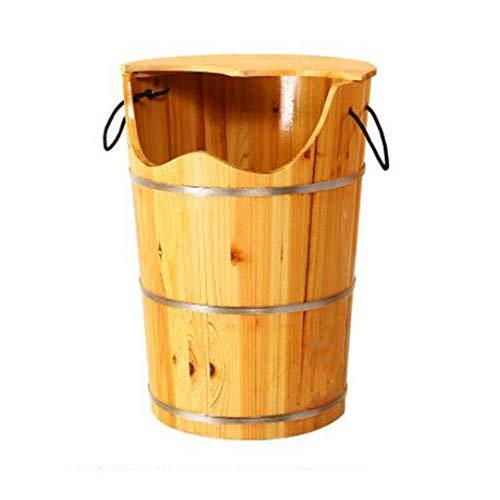 Affordable NJYT Foot Massager Wooden Foot Bath Barrels Pedicure Basin Bubble Foot Massage Bucket Was...