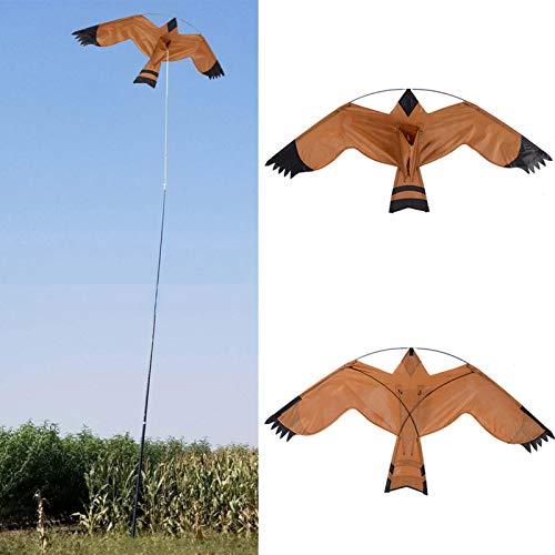 Garden Bird Repellent Eagle Kite,Bird Scarer Repeller Flying Kite,Hawk Bird Scarer Kite for Outdoor Garden Farm Yard Decoration - Include 2M Kite Line