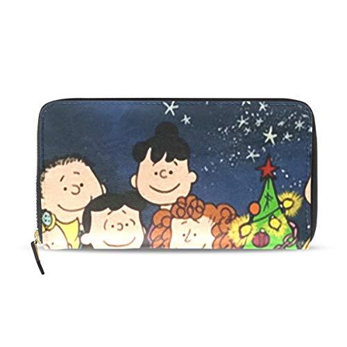 Charlie Brown Christmas スヌーピー チャーリー 財布 レディース 長財布 大容量 カード12枚収納 多機能 高級PUレザー ラウンドファスナー ロングウォレット プレゼント ママ人気