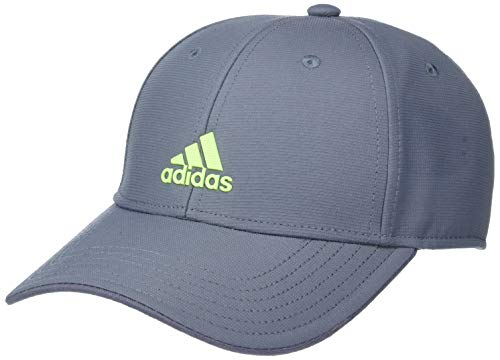 adidas Youth Kids-Boy's/Girl's / Decision Structured Adjustable Cap, Onix/Signal Green, ONE SIZE