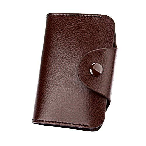 Leder Orgel Karte Tasche Zertifikat Tasche Einfache Karte Tasche Modische Karte Tasche (Kaffee)